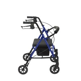 Drive Medical Adjustable Height Rollator with 6-inch Wheels