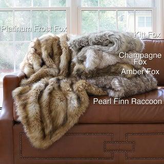 Wild Mannered Luxury Long Hair Faux Fur 60-inch Lap Throw Blanket