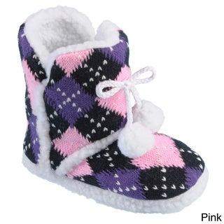 Journee Collection Kid's 'K-Mimiargy' Pom-pom Slipper Boots