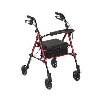 Adjustable Height Rollator with 6 inch Wheels