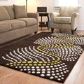 Handmade Soho Waves Brown New Zealand Wool Rug (9&#39;6 x 13&#39;6)