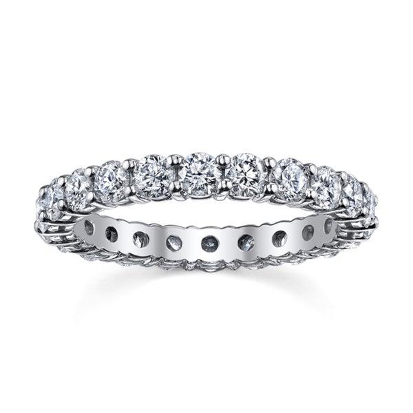 14k White Gold 2ct TDW Diamond Eternity Wedding Band (H-I, I1-I2)