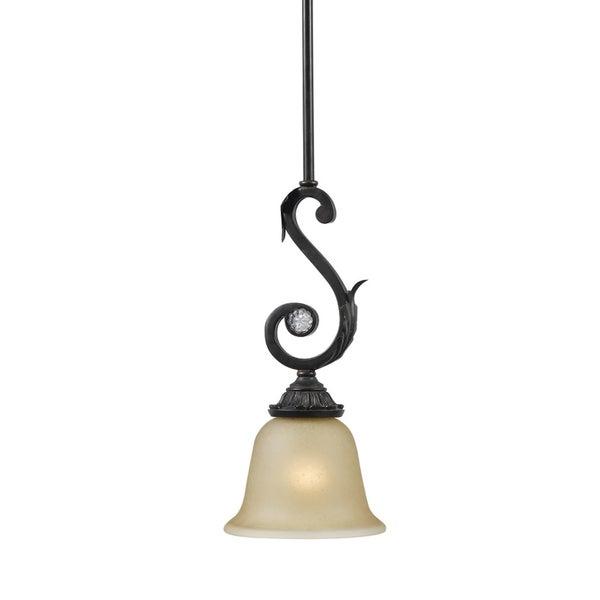 Winslow 1 light Dark Rust Mini Pendant