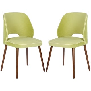 Safavieh Retro Light Green Linen Blend Side Chairs (Set of 2)