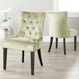 Safavieh Marseille Nail-head Bronze Velvet Dining Chairs (Set of 2)