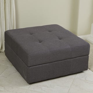 Christopher Knight Home Chatsworth Brown-Grey Fabric Storage Ottoman
