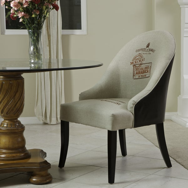 Christopher Knight Home Ricardo Leather/ Fabric Accent Chair
