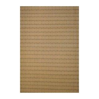 Traditional Indo Hand-Tufted Flat Weave Beige/Ivory Kilim Rug (5'6 x 8')