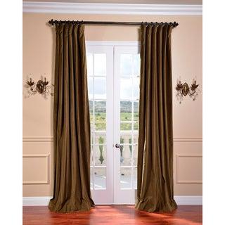 Burnt Olive Vintage Cotton Velvet Curtain