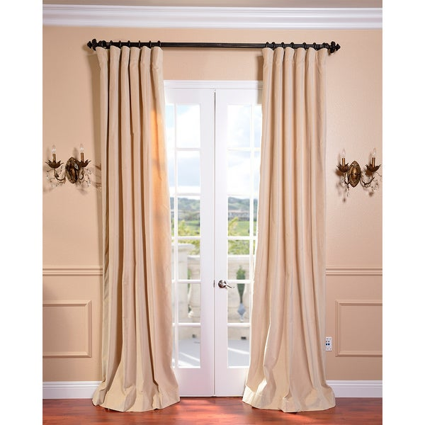 EFF British Tan Vintage Cotton Velvet Curtain