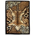 Skinz Design Tiger/ Animal Skin Patchwork Area Rug (5' x 7')