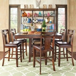 TRIBECCA HOME Marsden Rustic Brown 7-piece Mission Counter Height Dining Set