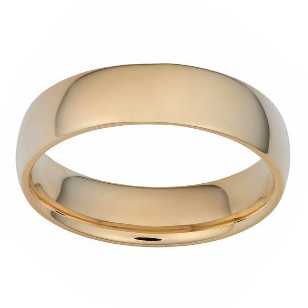 Fremada 14k Yellow Gold 6-mm Comfort Fit Wedding Band