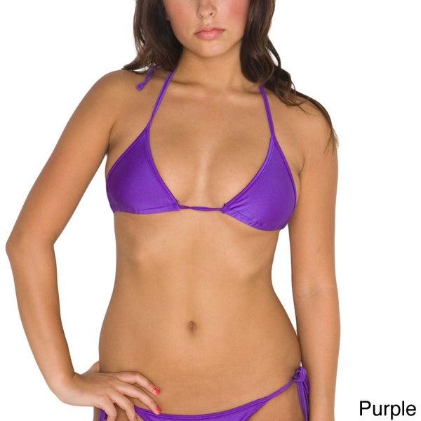 American Apparel Women's Nylon Tricot Triangle Bikini Top