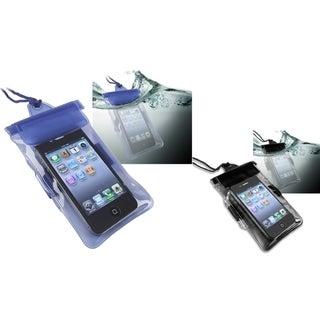 INSTEN Black/ Blue Waterproof Bag for Apple iPhone 4/ 4S