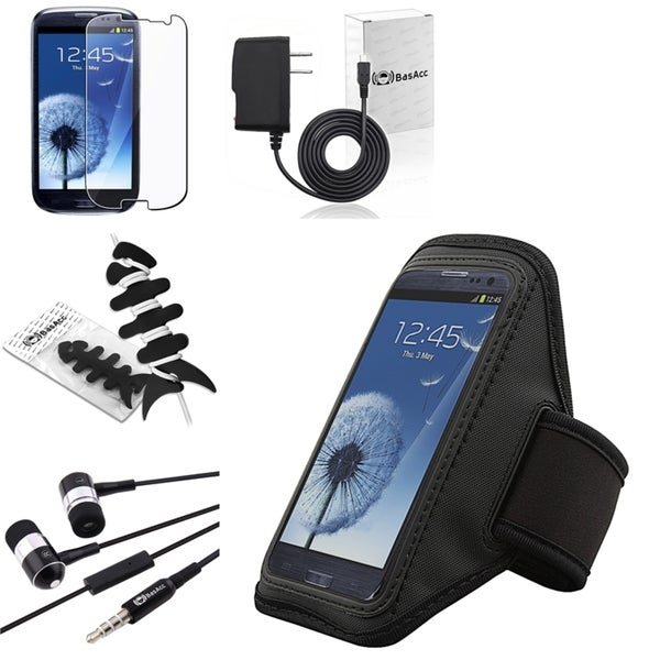 BasAcc Armband/ Charger/ Headset for Samsung Galaxy S III/ S3