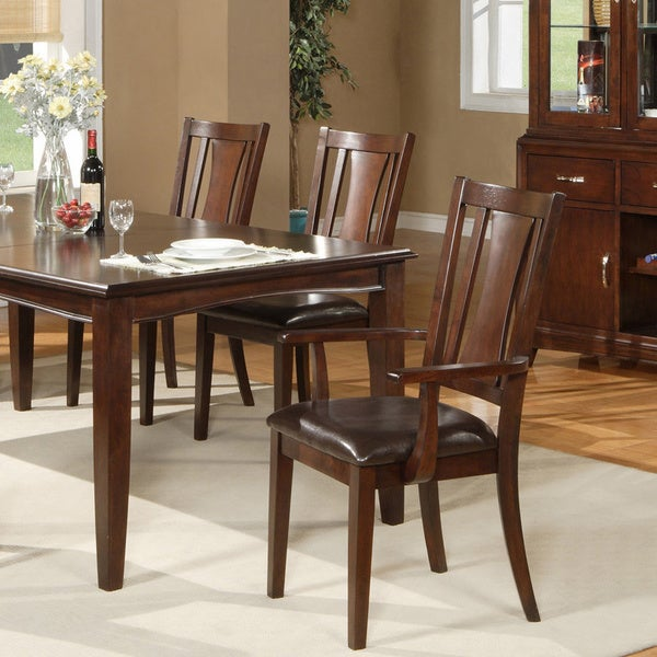 American Lifestyles 'Brampton' Cappuccino Side Arm Chairs (Set of 2)