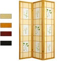 Wood and Rice Paper Floral Delight Shoji Screen (China)