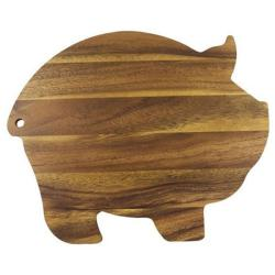 Ironwood Gourmet Pig-shaped Acacia Wood Cutting Board