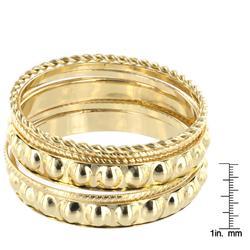 West Coast Jewelry Goldtone 5-piece Stackable Textured Bangle Set