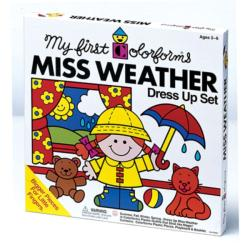 Colorforms Miss Weather Peel-and-Stick Weather Game