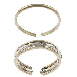 Goldfill 2-piece Toe Ring Set