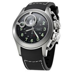 Hamilton Men's 'Khaki Navy' Titanium and Rubber Automatic Watch