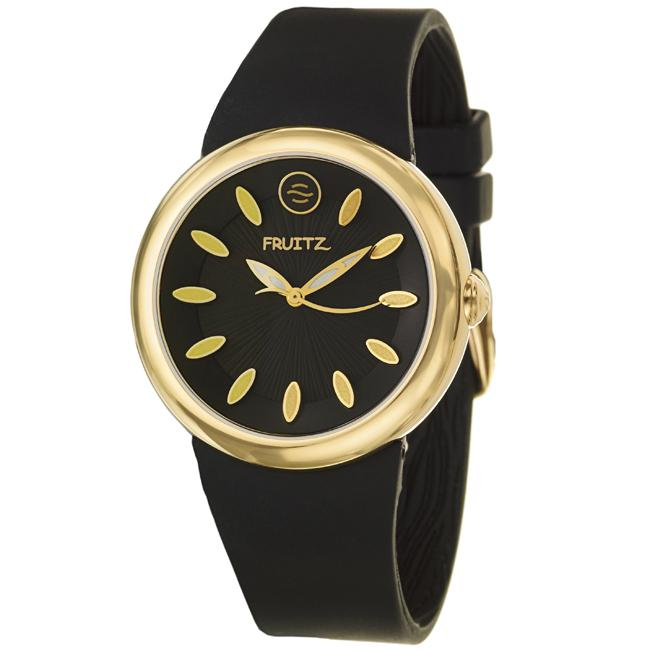 Fruitz Women's 'Classic' Goldplated Steel and Silicon Quartz Watch