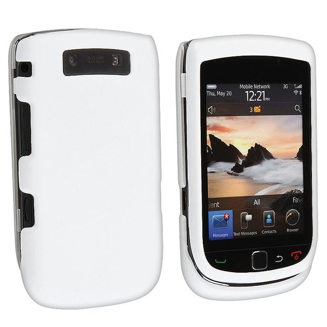 White Rubber Coated Case for BlackBerry Torch 9800