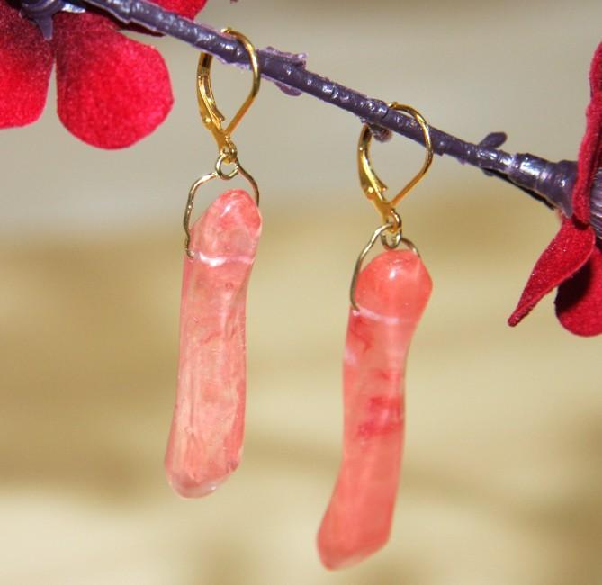 Goldplated Gilded Cherries Quartz Earrings