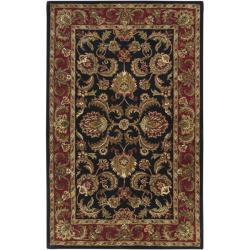 Hand-tufted Grandeur Black Wool Rug (9' x 13')