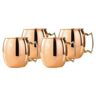 Old Dutch Copper Moscow Mule Mug 24 ounces (Set of 4)
