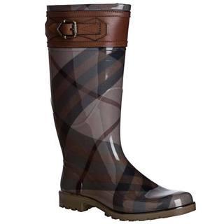 Burberry Women's '3816541' Buckle Detail Check Rainboots