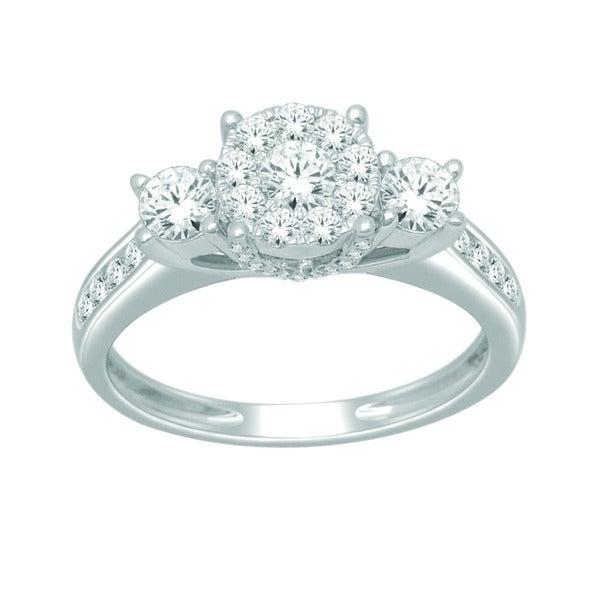 De Couer 10k White Gold 1ct TDW Diamond Ring (H-I, I2)