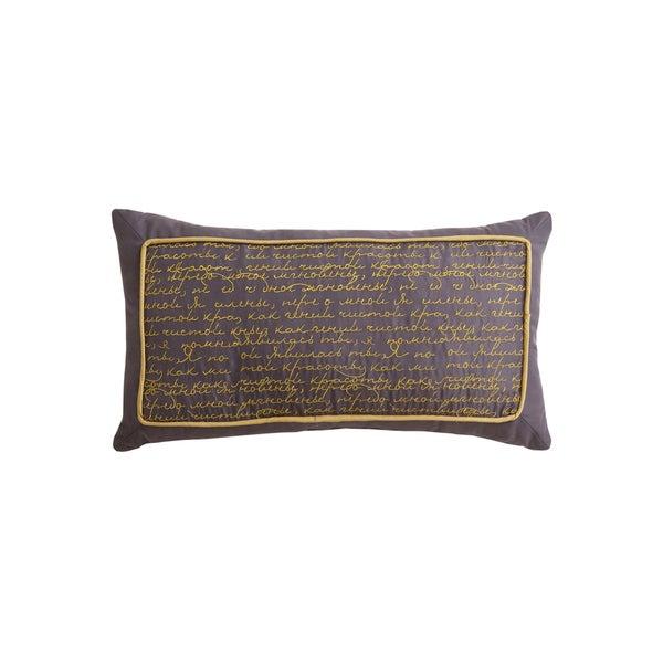 Jasper Script Decorative Pillow