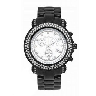 Joe Rodeo Men's Black Stainless-Steel 'Junior' Diamond Watch