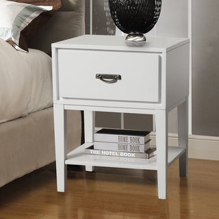 INSPIRE Q Haines White Rectangle Wood Accent Table