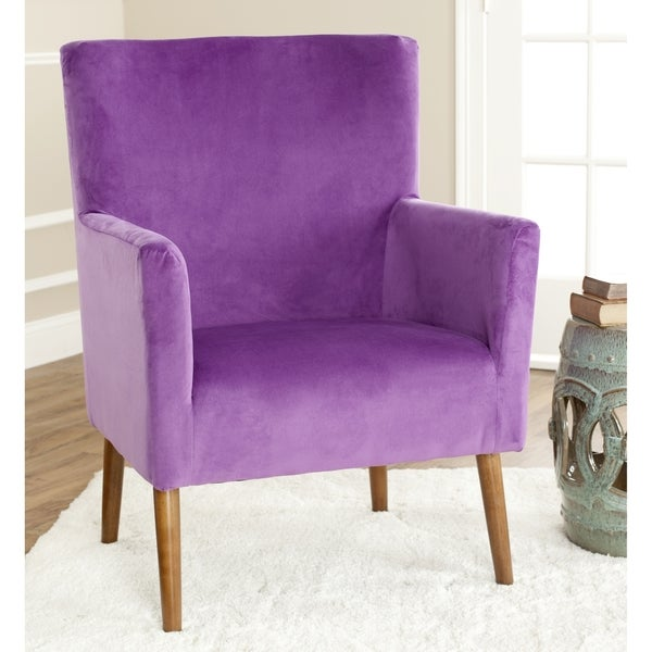 Retro Purple Chair Safavieh Retro Purple Velvet