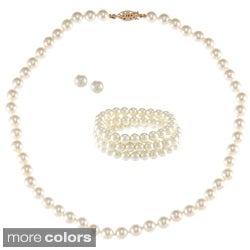 Alexa Starr Faux Pearl 3-piece Jewelry Set