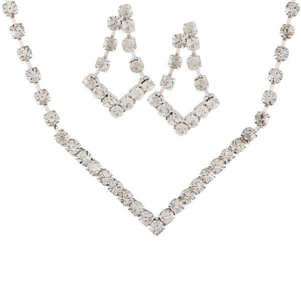 Alexa Starr Rhinestone Chevron Jewelry Set