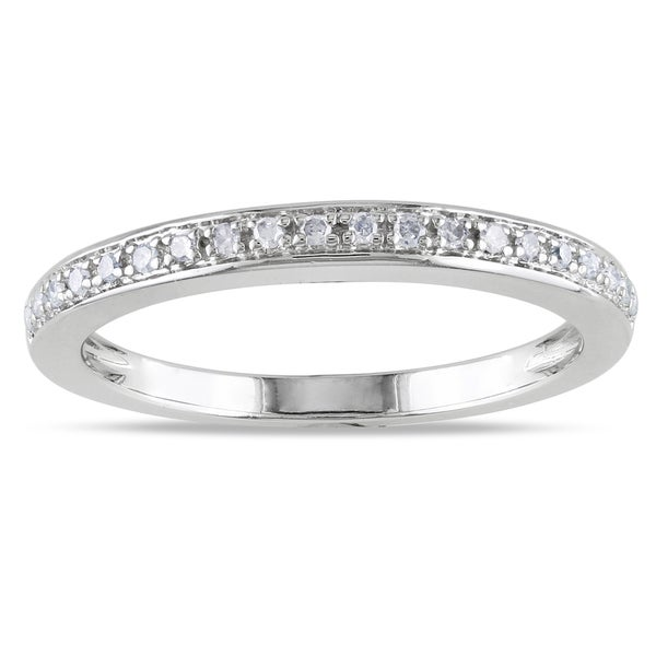 Miadora 14k White Gold 1/10ct TDW Diamond Anniversary Ring (G-H, I1-I2)