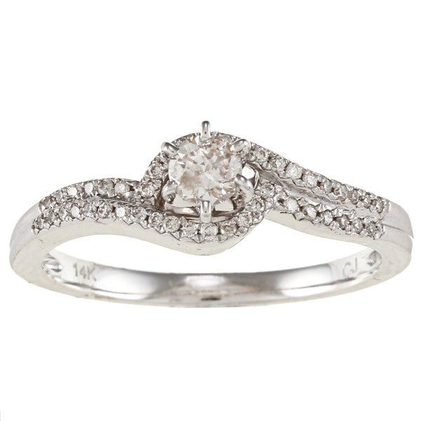 14k White Gold 1/3ct TDW White Diamond Ring (IJ, I1-I2)