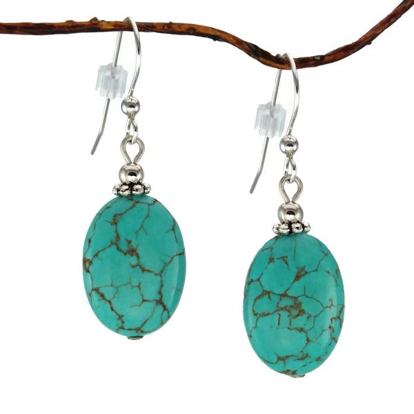 Jewelry by Dawn Oval Turquoise Magnesite Earrings