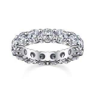 14k White Gold 2 3/4 to 3 1/5ct TDW Diamond Eternity Wedding Band (H-I, SI1-SI2)