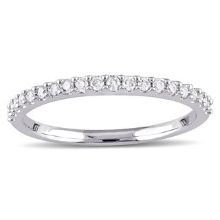 Miadora 10k Rose or White Gold 1/5ct TDW Diamond Anniversary Ring