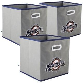 MLB Team Logo My Owner's Box Fabric Storage Drawer 3-piece Set