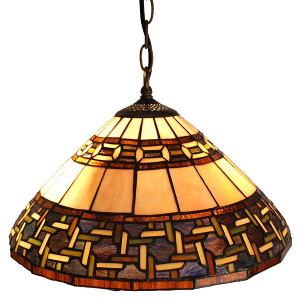 Geo Handcrafted Stained Glass Tiffany Style Pendant Lamp