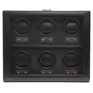 WOLF Heritage Six-watch Faux Leather Watch Winder