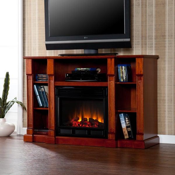 Bernardo Mahogany Electric Media Fireplace