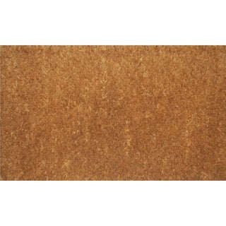 Natural Coir Natural Thick Door Mat (1'6 x 2'6)